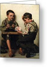 Bluffing Greeting Card by Pg Reproductions