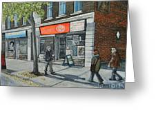 Blvd Monk Ville Emard Greeting Card by Reb Frost
