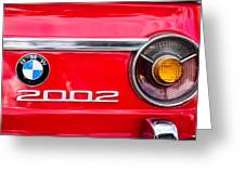 Bmw 2002 Taillight Emblem Greeting Card by Jill Reger