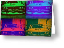 BMW Racing Pop Art 1 Greeting Card by Naxart Studio
