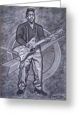 Bo Diddley - Have Guitar Will Travel Greeting Card by Sean Connolly