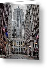 Board Of Trade Greeting Card by Mike Burgquist