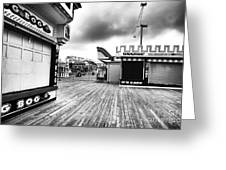 Boardwalk Angles Greeting Card by John Rizzuto