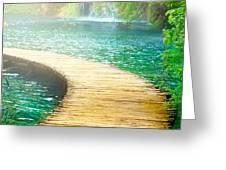 Boardwalk art Greeting Card by Boon Mee