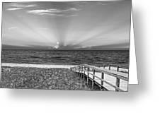 Boardwalk to the Sea Greeting Card by Michelle Wiarda
