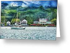 Boat - A Good Day To Sail Greeting Card by Mike Savad