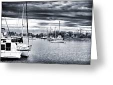 Boat Blues Greeting Card by John Rizzuto