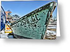 Boat - In A State Of Decay Greeting Card by Paul Ward