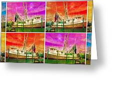 Boat Of A Different Color Greeting Card by Betsy A  Cutler