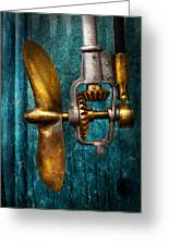 Boat - Propulsion  Greeting Card by Mike Savad