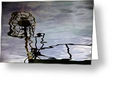Boat Reflections Greeting Card by Stylianos Kleanthous
