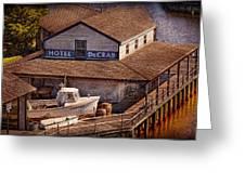 Boat - Tuckerton Seaport - Hotel Decrab Greeting Card by Mike Savad