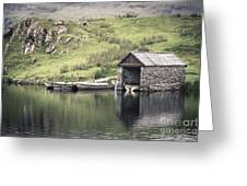 Boathouse Greeting Card by Jane Rix