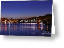 Boathouse Row Philly Greeting Card by John Greim