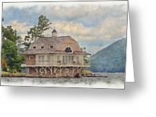 Boathouse  Greeting Card by Susan Leggett
