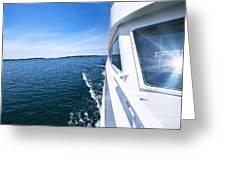 Boating On Lake Greeting Card by Elena Elisseeva