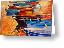 Boats Greeting Card by Ivailo Nikolov