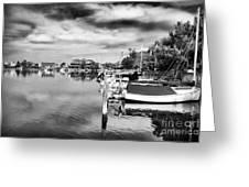 Boats of Long Beach Island Greeting Card by John Rizzuto