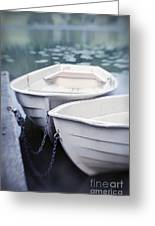 Boats Greeting Card by Priska Wettstein