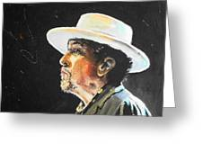 Bob Dylan Greeting Card by Lucia Hoogervorst