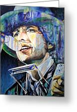 Bob Dylan Tangled Up In Blue Greeting Card by Joshua Morton