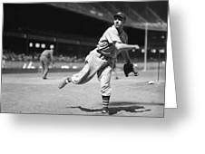 Bob Feller Pitches Greeting Card by Retro Images Archive