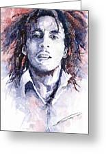 Bob Marley 3 Greeting Card by Yuriy  Shevchuk