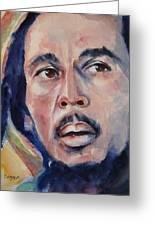 Bob Marley Greeting Card by Brian Degnon