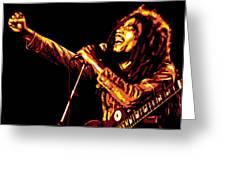 Bob Marley Greeting Card by DB Artist