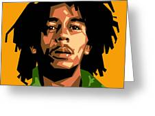 Bob Marley Greeting Card by Douglas Simonson