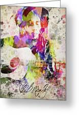 Bob Marley Portrait Greeting Card by Aged Pixel