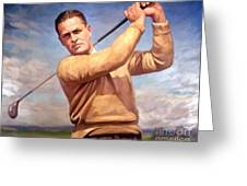 bobby Jones Greeting Card by Tim Gilliland