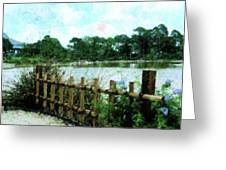 Boca Morikami Gardens Greeting Card by Florene Welebny