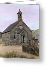 Bodie Church Greeting Card by Mel Felix