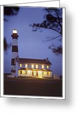 Bodie Light Just After Dark Greeting Card by Mike McGlothlen