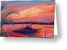 Bohicket Sunset Greeting Card by Patricia Huff
