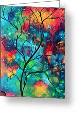 Bold Rich Colorful Landscape Painting Original Art Colored Inspiration By Madart Greeting Card by Megan Duncanson