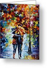 Bonded By Rain 2 Greeting Card by Leonid Afremov