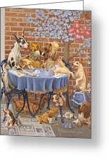 Bone Appetit Restaurant Greeting Card by Victor Powell