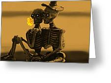 Bones In Love  Greeting Card by David Dehner