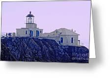 Bonita Lighthouse Greeting Card by Kathleen Struckle