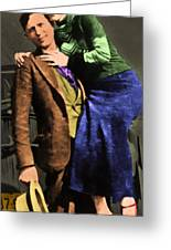 Bonnie And Clyde 20130515 Long Greeting Card by Wingsdomain Art and Photography