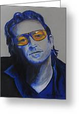 Bono U2 Greeting Card by Eric Dee