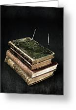 Books With Glasses Greeting Card by Joana Kruse