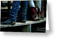 Boots Tell The Story Greeting Card by Bob Christopher