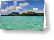 Bora Bora Green Water Greeting Card by Eva Kaufman