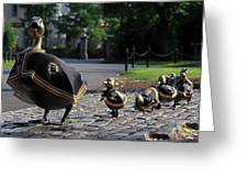 Boston Bruins Ducklings Greeting Card by Juergen Roth