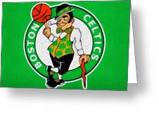 Boston Celtics Canvas Greeting Card by Dan Sproul