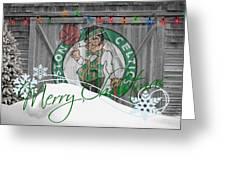 BOSTON CELTICS Greeting Card by Joe Hamilton