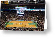 Boston Celtics Greeting Card by Juergen Roth
